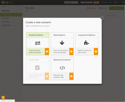 BugBuster - Create a Scenario